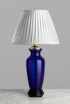 C018  An Antique Chinese Rich Cobalt Blue Peking Glass Lamp - Circa 1900