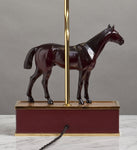 C053  An English, Vintage, Finely Modelled Chestnut Stallion As a Lamp - Circa 1930's