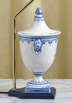 C075  A Very Decorative Antique Italian Majolica, Ulysses Cantagalli Lamp - Circa 1880