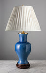 "C080  A Very Decorative Large 19th Century Chinese ""Powder Blue"" Lamp - Circa 1850"