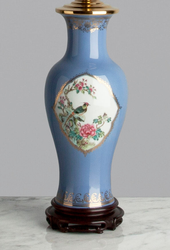C087  A Very Pretty, Early 20th Century Chinese Lilac Coloured Lamp - Circa 1910