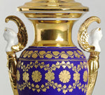 C088  An Ultra Smart French, Porcelaine de Paris Empire Style Accent Lamp - Circa 1820