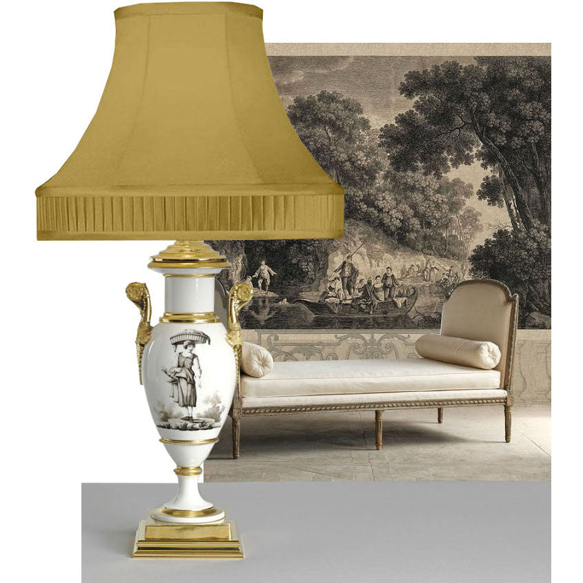 C091 A Very Smart KPM Berlin Lamp Of Neo-Classic Empire style - Circa 1830