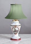 C100 A Very Pretty Early 19th Century, French, Opaline Glass Accent Lamp - Circa 1820