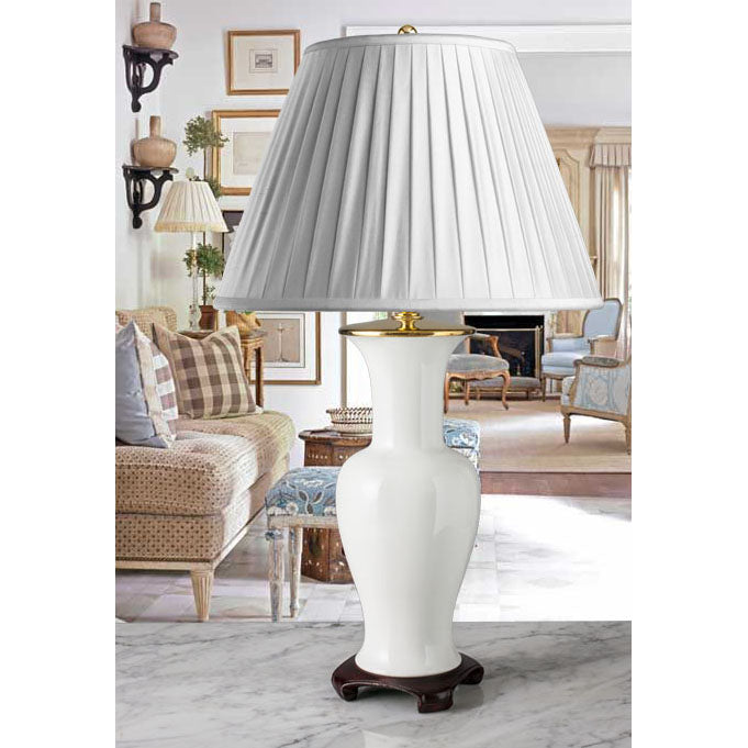 D006  A Tall, Imposing Vintage German Kaiser Lamp in Blanc-de-Chine Style - 1960's