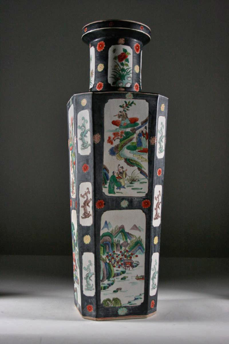 original Chinese 19th century porcelain vase showing the source of this lamp.