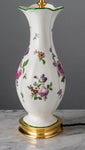 D072  A Pretty Antique Edwardian Flower Painted Royal Doulton Lamp - Circa 1905