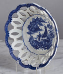 D085  An English, 18th Century, Caughley, Soft Paste Porcelain Basket - Circa 1780