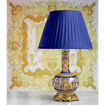 E047 A 19th Century, French Gien Faience Lamp Of Exceptional Quality - Circa 1865