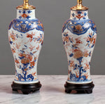 A Very Fine Pair of 18th Century Kang Xi Reign Chinese Imari Lamps - Circa 1705