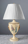 F015  A Charming Vintage, Italian, Tôle Ware, Urn Shaped Accent Lamp - Circa 1950's