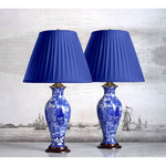 "F018  A Very Fine Pair Of Wedgwood Lamps, Printed In Blue With ""Ferrara"" - Circa 1910"