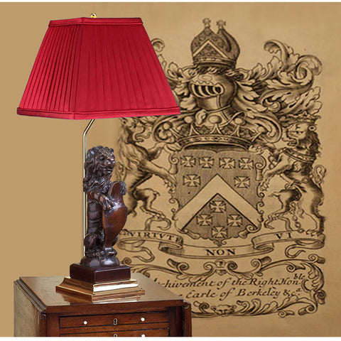 F023  A Very Rare 17th Century Carved English Oak Heraldic Lion as a Lamp - Circa 1680