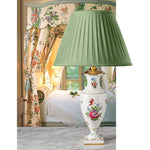 F034  A Finely Painted 19th Century Floral Lamp by Carl Thieme of Dresden - Circa 1880