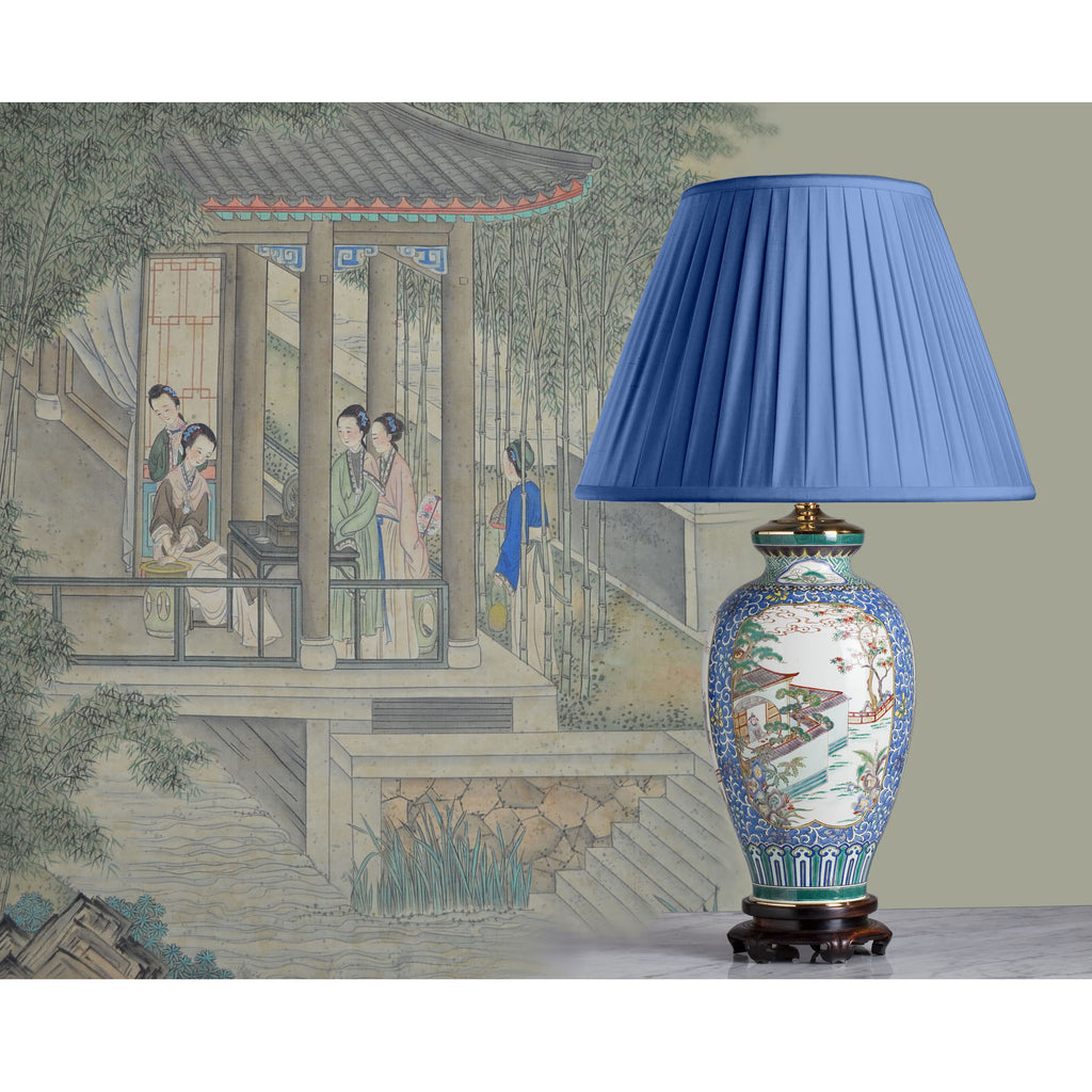F038  A Rare French Edmé Samson Of Paris Lamp of Outstanding Quality - Circa 1870