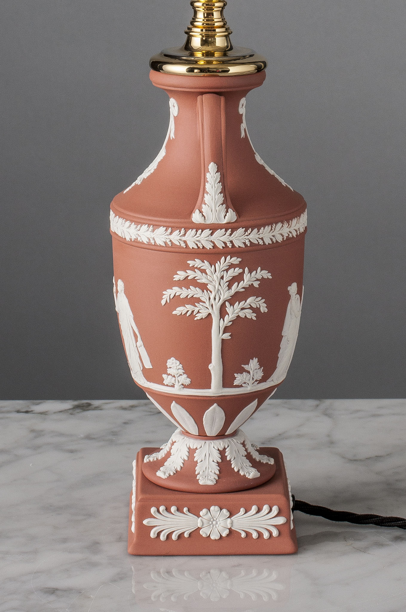 F040   A Vintage Wedgwood Terracotta Accent Lamp Of Neo Classic Style - Circa 1960