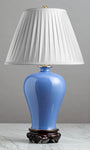 F042  An Elegant Contemporary Chinese Mei Ping Shaped Powder Blue Lamp