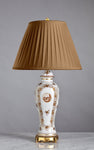 F055  A Vintage French Porcelaine de Paris Lamp In American Federal Style - Circa 1950