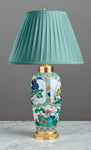 F056  A French 19th Century Samson Of Paris Accent Lamp In Kang Xi Style - Circa 1870
