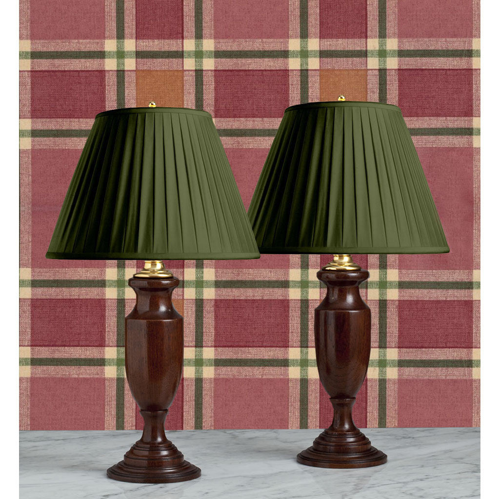 F058  A Very Handsome Pair of Scottish Lathe Turned Mahogany Accent Lamps - Circa 1900