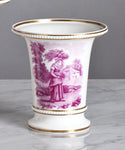 F062  A Charming Garniture of English, Regency Era Davenport Vases - Circa 1815