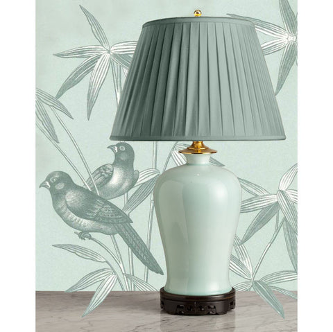G001  A Large Contemporary Classic Chinese Celadon Lamp of Mei Ping Shape