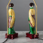 G003  A Slender Pair Of 19th Century, Kangxi Style Ladies As Accent Lamps - Circa 1860