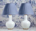 G004  A Pair of Classic Contemporary Chinese Bottle Shaped Lamps With A Moonlight Glaze
