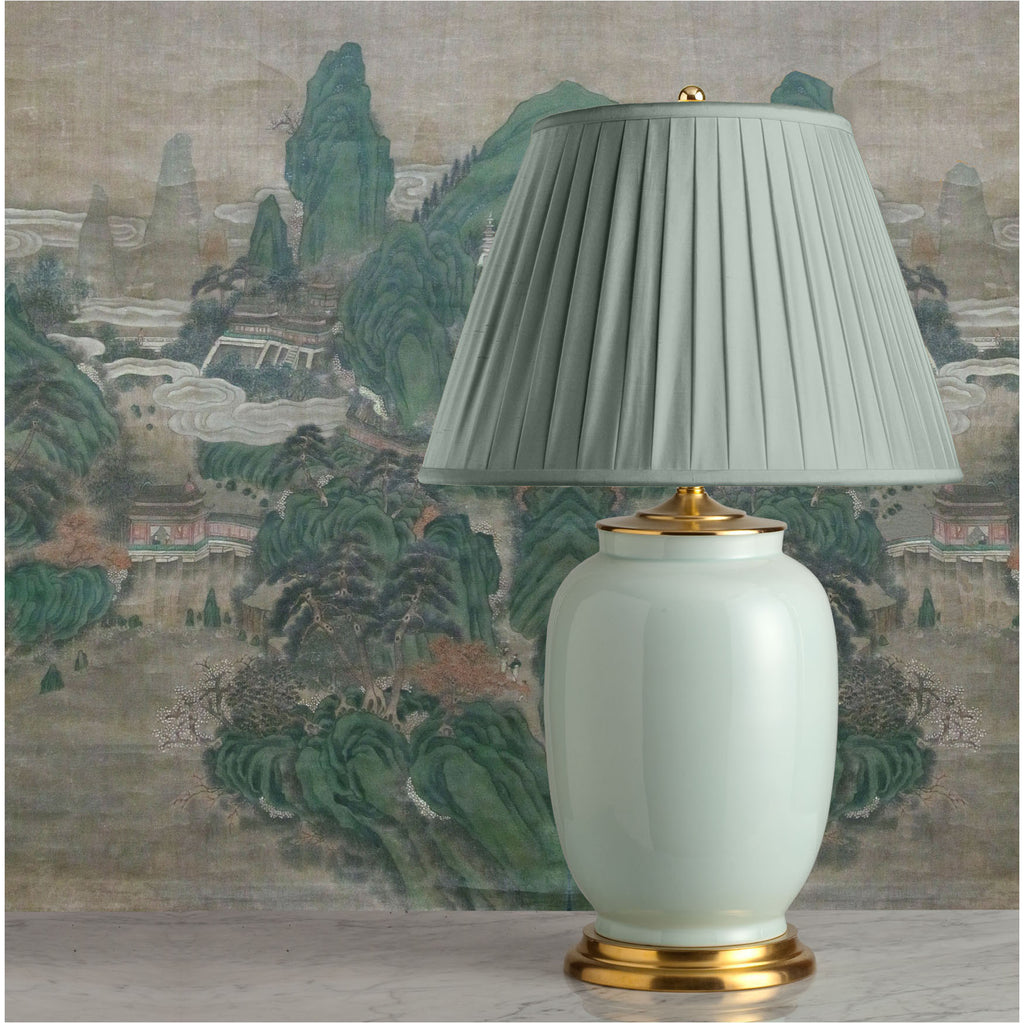 G011  A Very Large Contemporary Classic Chinese Celadon, Elephant-Leg Shaped Lamp