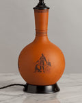 G013  A Very Smart English Terracotta Lamp In Greek Revival Style - Circa 1870