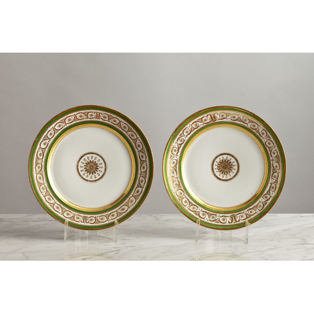G021 An Ultra Smart, Pair of Early 19th Century, Imperial Russian Plates - Circa 1820