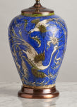 G023  A Decorative Mid 19th Century Persian Faience Lamp Of Large Size - Circa 1850