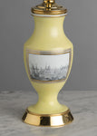 G032 A French Classically Understated Yellow Opaline Glass Lamp - Circa 1810