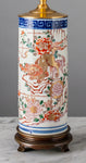G037  A tall 19th Century Chinese Lamp Decorated With Gilded Shi Shi - Circa 1870