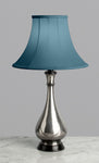 G040   An Elegant, 19th Century, Indian, Bidri Pear Shaped Accent Lamp - Circa 1880
