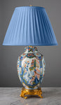 G041  A Very Decorative, Large 19th Century Dutch Delft Chinoiserie  Lamp - Circa  1870