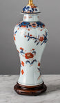 G048 A Mid 19th Century Chinese Imari Export Lamp of Baluster Shape - Circa 1860