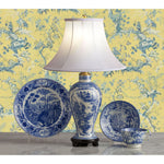 G049  An 18th Century English Chinoiserie Pearlware Printed Accent Lamp - Circa 1790