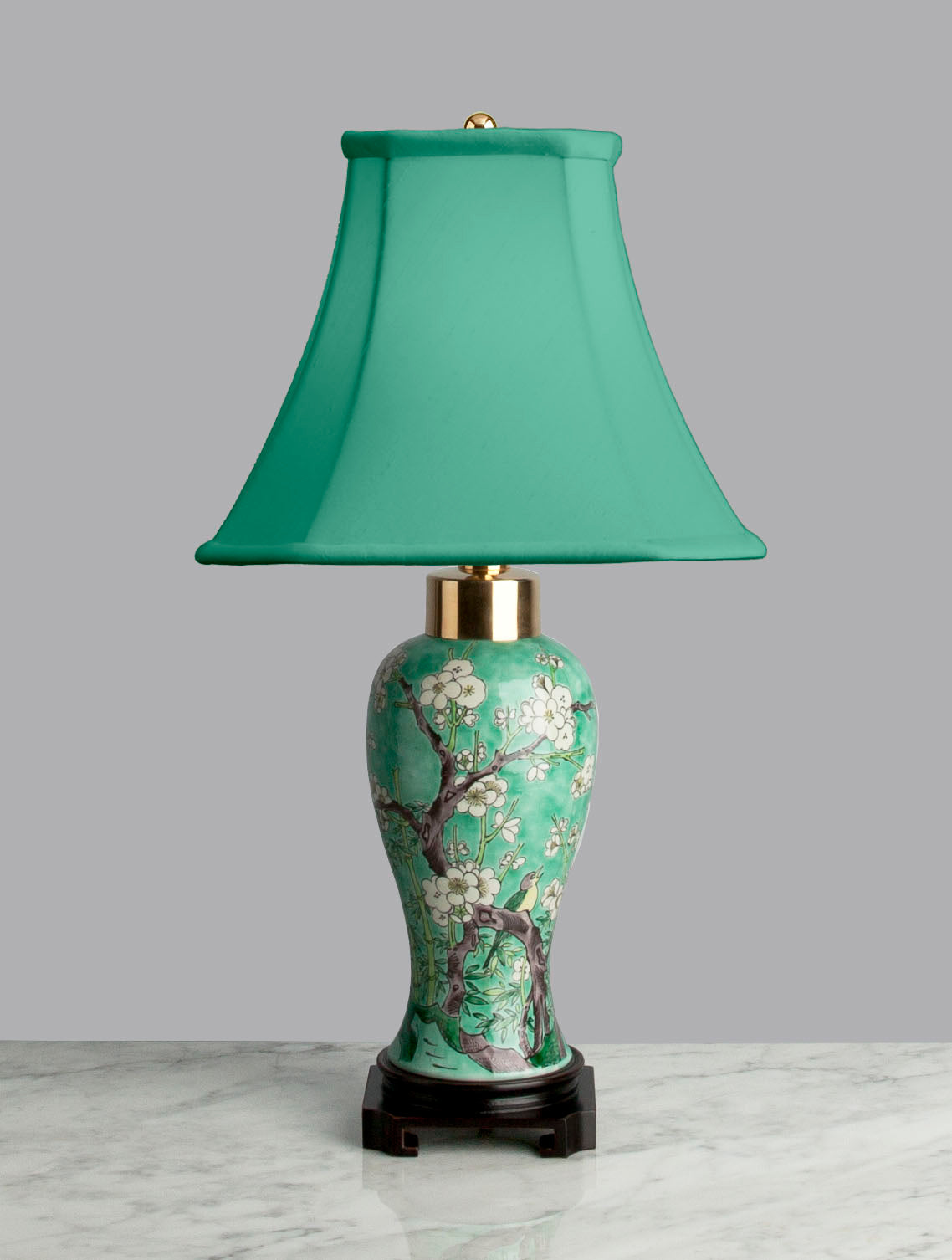 G061 A 19th Century Chinese Lamp With a Message Of Springtime Renewal - Circa 1870