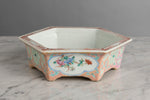 A 19th Century Chinese Hexagonal Pastel Pink Bulb Planter - Circa 1870