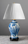 G072  A Rare English Chinoiserie Transfer Printed Pearlware Accent Lamp - Circa 1790