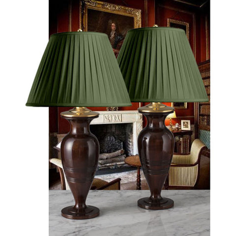 G085 A Classic Pair Of Late 18th Century English Mahogany Lamps - Circa 1790