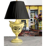 A Vintage Mottahedeh Yellow Navette Shaped Accent Lamp - Circa 1960