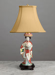 Rare Japanese Shoza Style Kutani Figure of a Bijin as a Lamp - Circa 1910