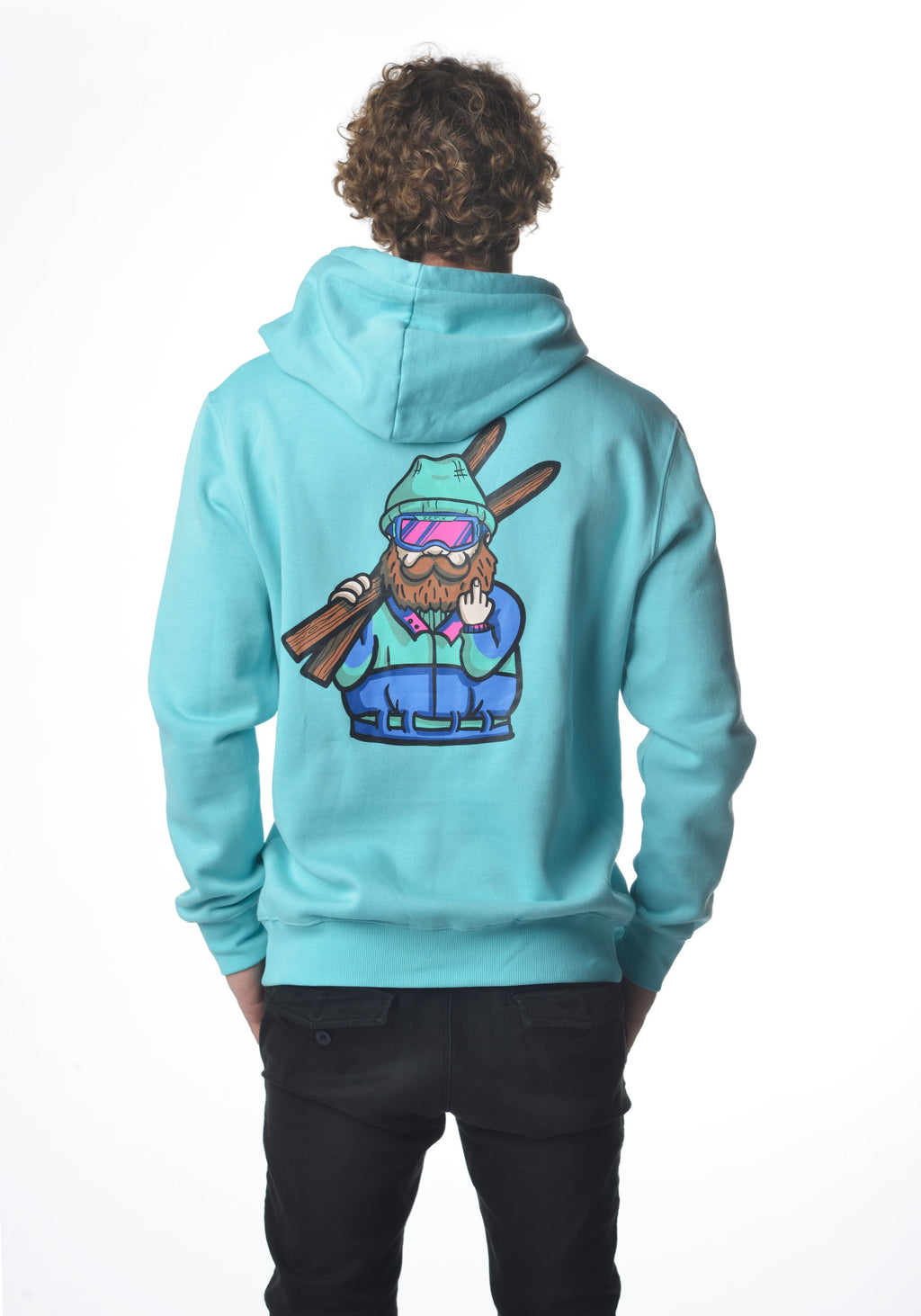 Winter Grantler Backprint Hoodie türkis