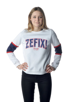 College Sweater Girls weiß