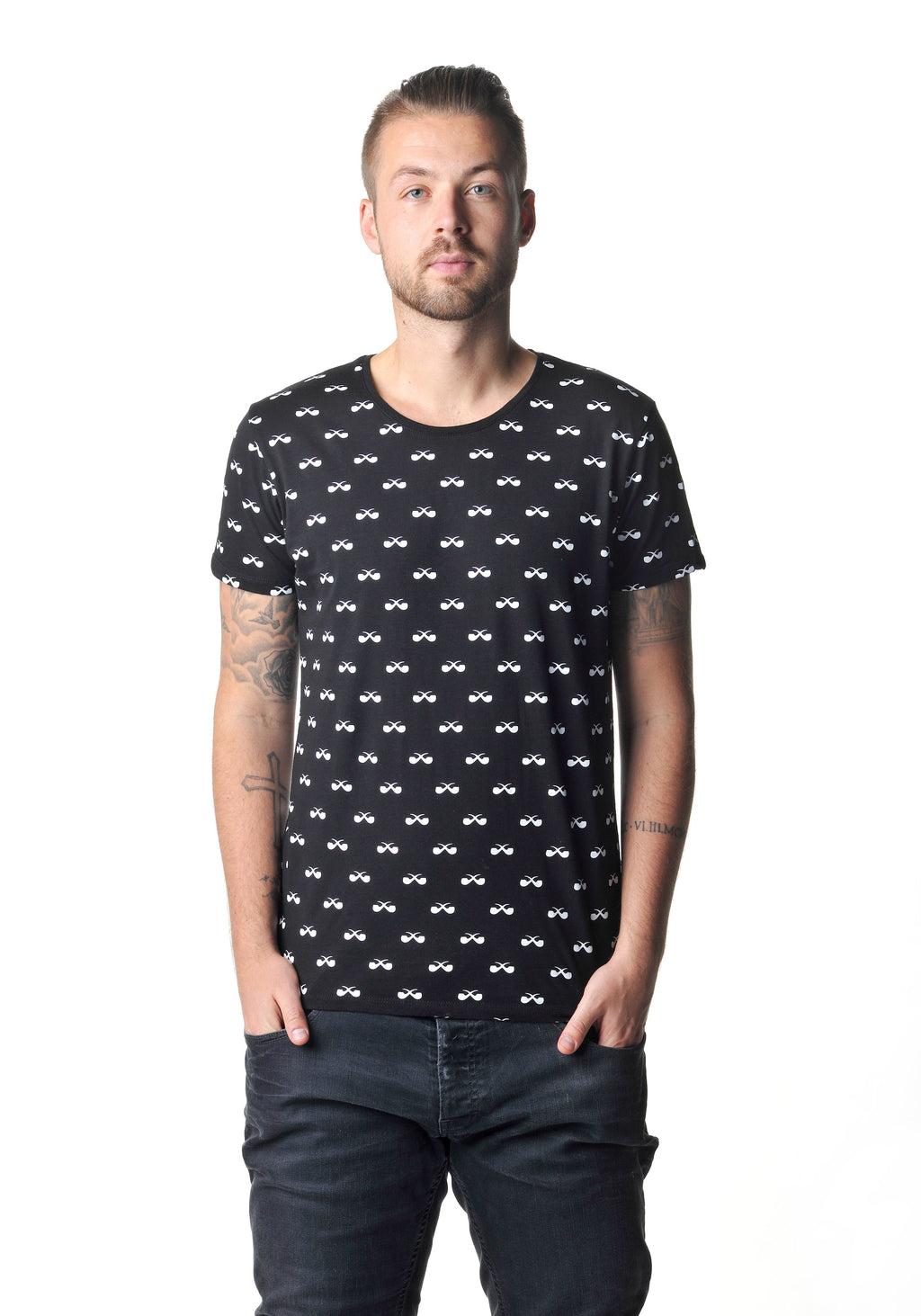 All-Over Shirt Pfeifen schwarz