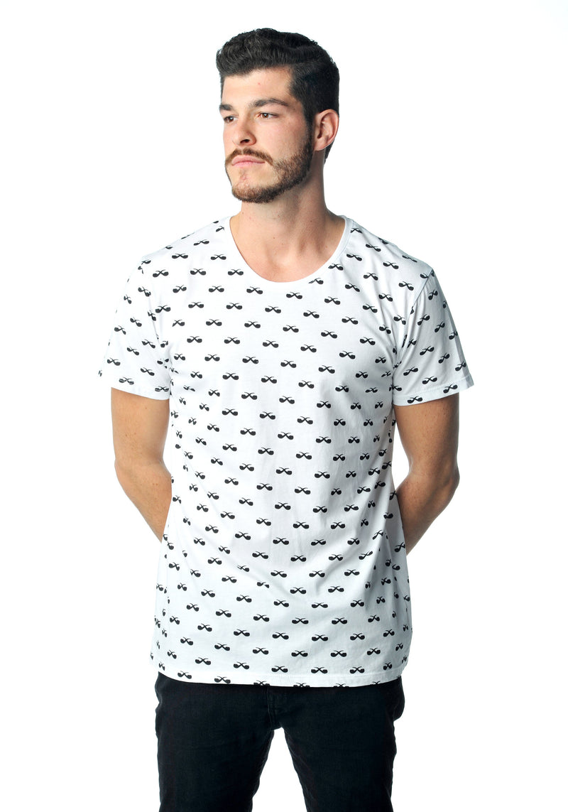 All-Over Shirt Pfeifen white