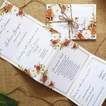 Autumn Gold Wedding Invitation Sample