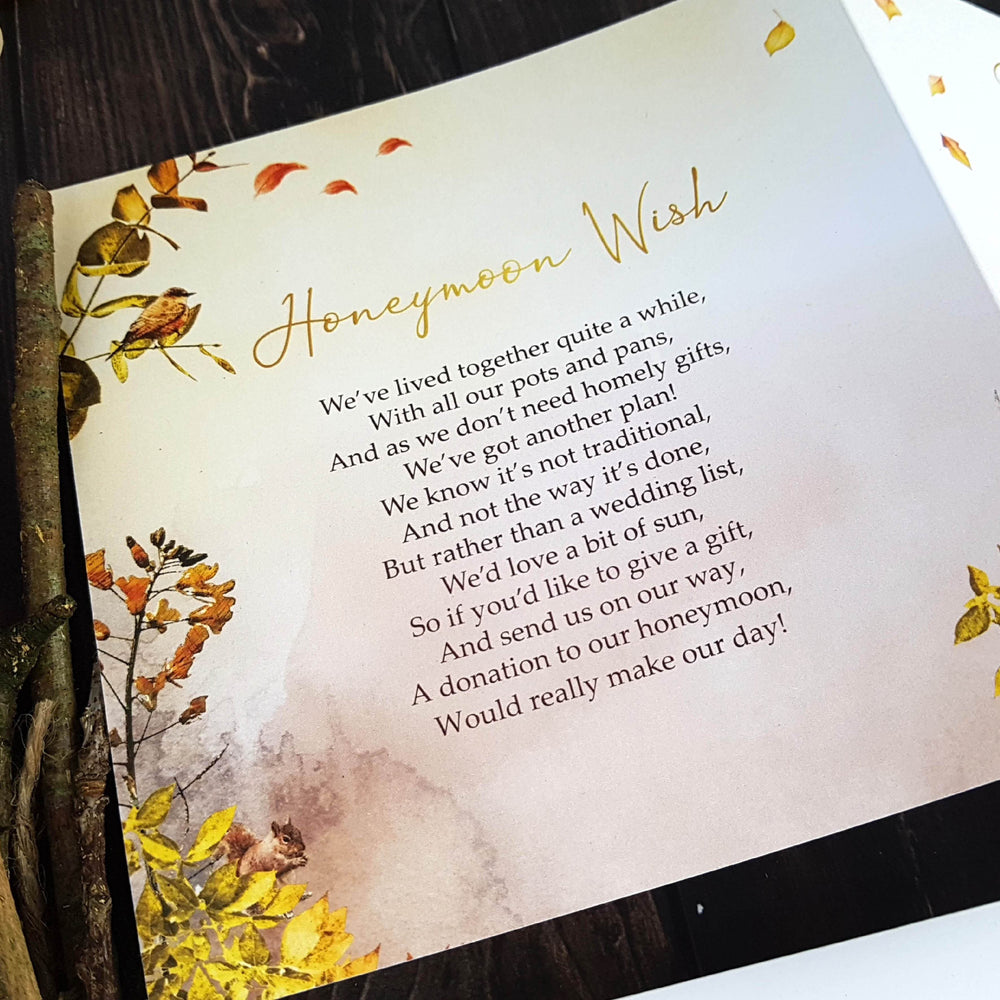 Autumn Trifold , Sienna Mai Personalised Wedding Invitations